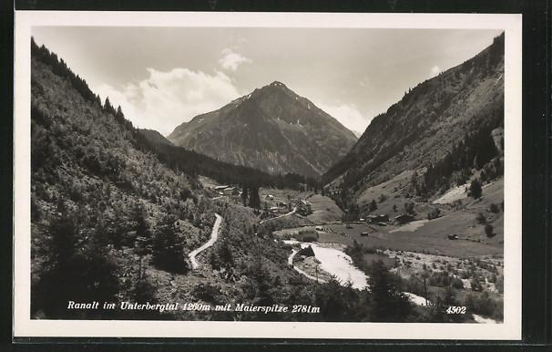 AK Ranalt, Blick im Unterbergtal mit Maierspitze