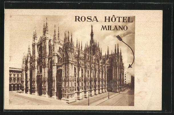 AK Milano, Ansicht vom Rosa Hotel