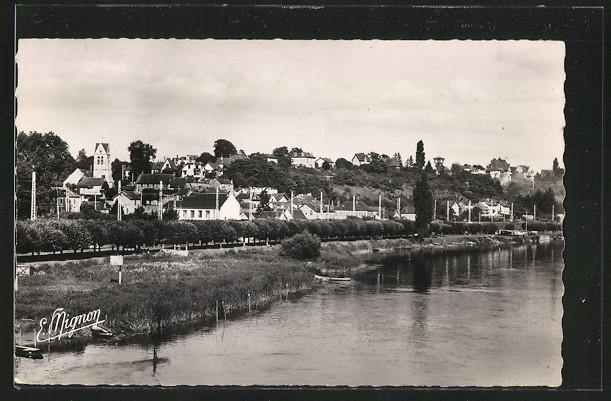 AK Fontaine-le-Port, Le Coteau de Fontaine aux bords de la Seine