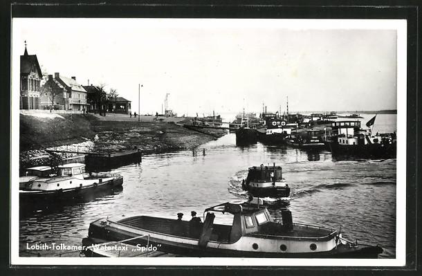 AK Lobith-Tolkamer, Watertaxi Spido im Hafen
