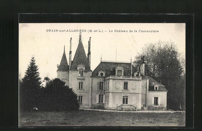 AK Brain-sur-Allonnes, Le Château de la Coutanciere