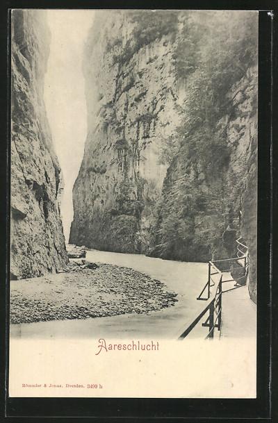 AK Aareschlucht, Promenade