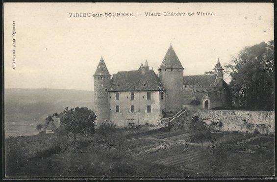 AK Virieu-sur-Bourbre, Vieux Chateau de Virieu