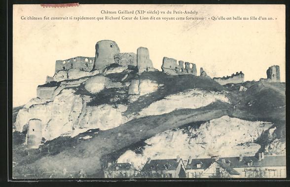 AK Le Petit-Andely, Chateau Gaillard vu du Petit-Andely