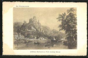 Künstler-AK Petit-Andely, Chateau Gaillard au Petit Andely