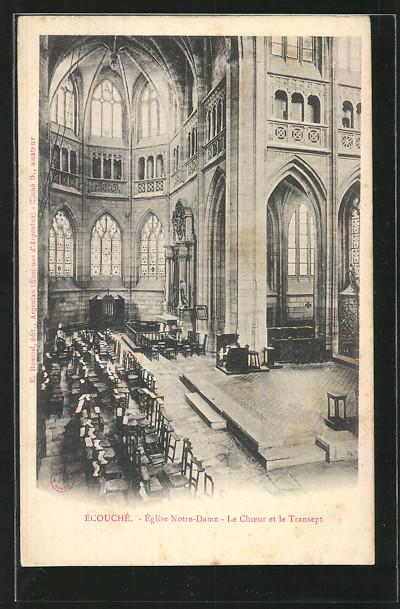 AK Écouché, Église Notre-Dame, Le Choeur et le Transept