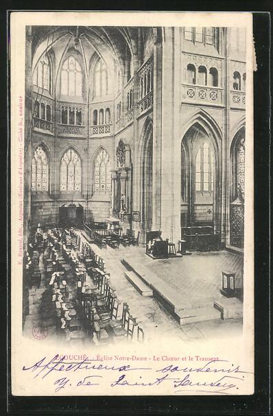 AK Ecouche, Eglise Notre-Dame, Le Choeur et le Transept