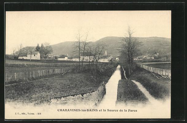 AK Charavines-les-Bains, Charavines-les-Bains et la Source de la Fures