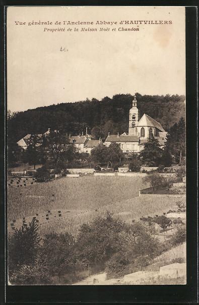 AK Hautvillers, Vue generale de l'Ancienne Abbaye d'Hautvillers, Propriete de la Maison Moet et Chandon