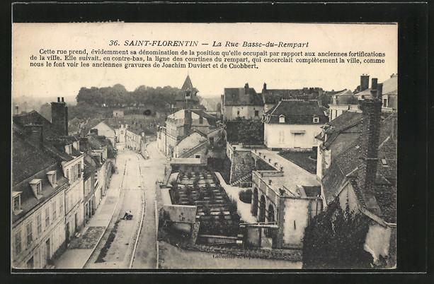 AK Saint-Florentin, La Rue Basse-du-Rempart