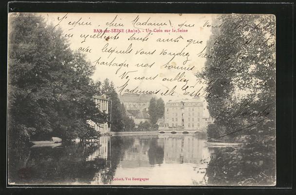 AK Bar-sur-Seine, Un Coin sur la Seine