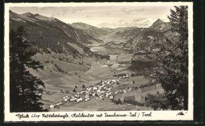 AK Haller am Haldensee, Blick über Nesselwängle im Tannheimer-Tal