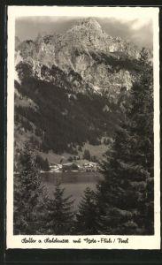 AK Haller am Haldensee, Panorama mit Rote Flüh