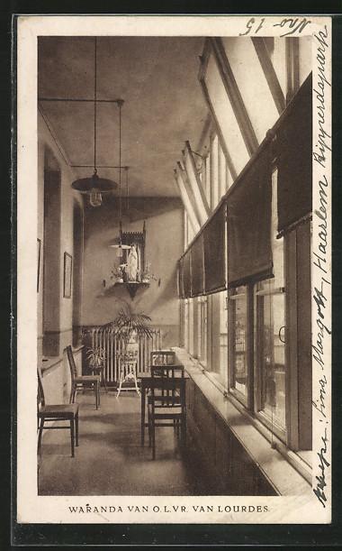 AK Rotterdam, Retraitenhuis de Thabor, Waranda van O. L. Vr. van Lourdes