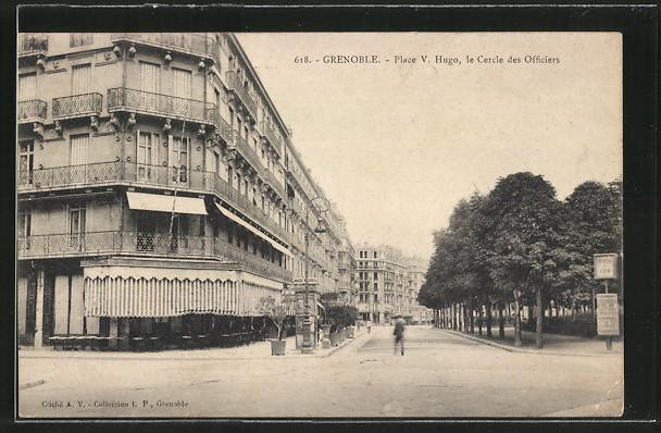 AK Grenoble, Place V. Hugo, le Cercle des Officiers