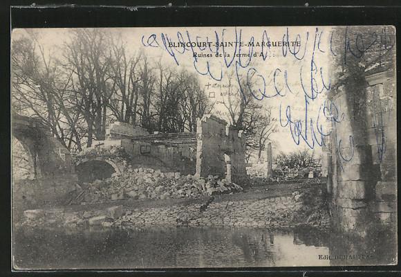 AK Elincourt-Sainte-Marguerite, Ruine de la Ferme d'A...