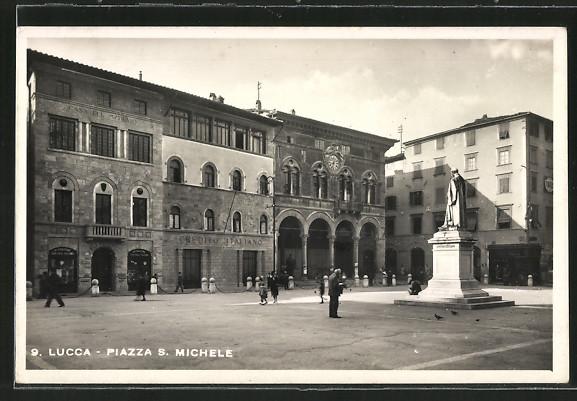 AK Lucca, Piazza S. Michele mit Credito Italiano