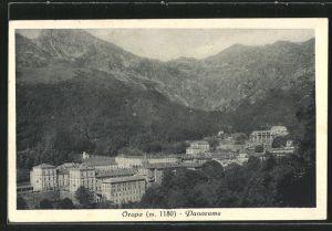 AK Oropa, Panorama im Wald