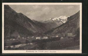 AK Gressoney La Trinite, Panorama im Tal
