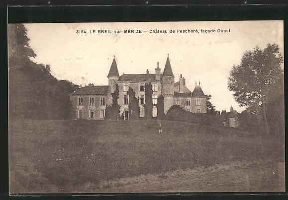AK Le Breil-sur-Mérize, Château de Pescheré