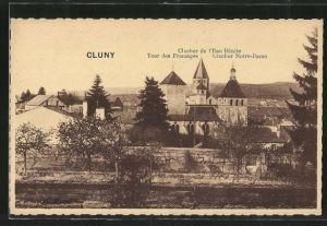 AK Cluny, le clocher de l'Eau Bénite, le Tour des Fromages, le clocher Notre-Dame