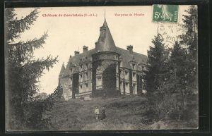 AK Courtalain, Chateau, Vue prise du Moulin