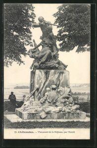 AK Châteaudun, Monument de la Défense, par Mercié