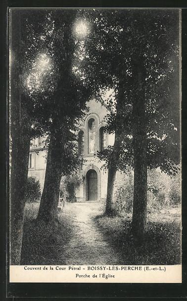 AK Boissy-les-Perche, Couvent de la Cour Pétral, Porche de l'Eglise