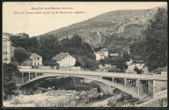 AK Amélie-les-Bains, Pont en ciment armé