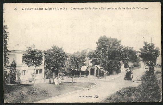 AK Boissy-St-Léger, le carrefour de la route Nationale et de la rue de Valenton