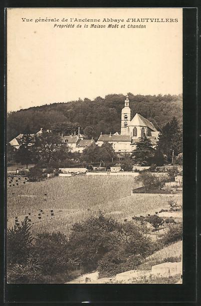 AK Hautvillers, Vue générale de l'Ancienne Abbaye d'Hautvillers, Moet & Chandon