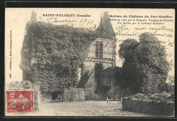 AK Saint-Fulgent, Ruines du Château du Puy-greffier