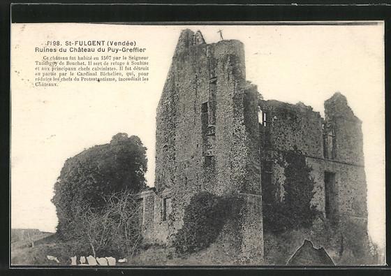 AK St-Fulgent, Ruines du Château du Puy-Greffier