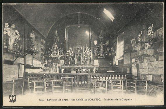 AK Ste-Anne du-Portzic, Intérieur de la Chapelle