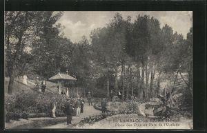 AK Lamalou-les-Bains, Place des Pins au Parc de l'Usclade