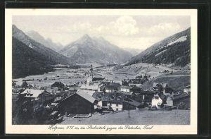 AK Fulpmes, Ortsansicht gegen die Gletscher