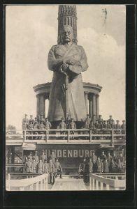 AK Berlin-Tiergarten, der Eiserne Hindenburg v. Berlin. Kriegshilfe