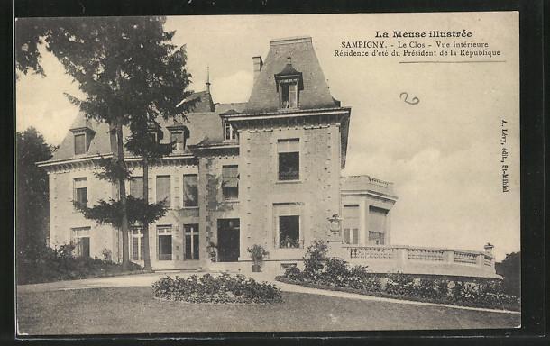 AK Sampigny, vue de Le Clos Poincaré, vue intérieure de la résidence d'été du président de la république