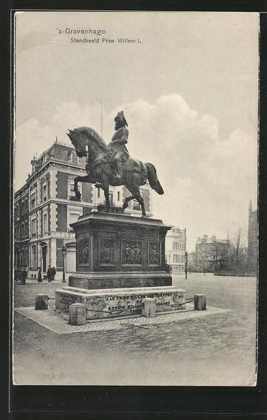 AK s'Gravenhage, Standbeeld Prins Willem I.