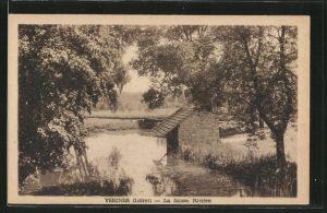 AK Vesines, La fausse Rivière, Partie au bord de l'eau