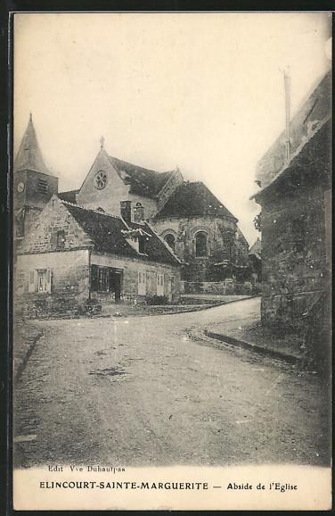 AK Elincourt-Sainte-Marguerite, l'abside de l'Eglise vue de la rue