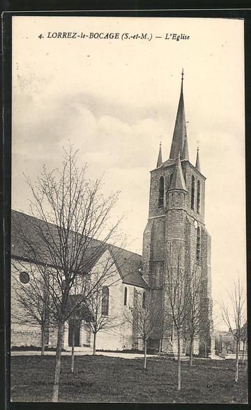 AK Lorrez-le-Bocage, L'Eglise