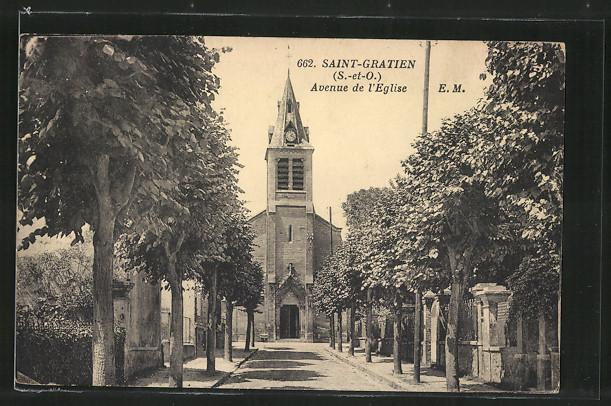 AK Saint-Gratien, Avenue de l'Eglise