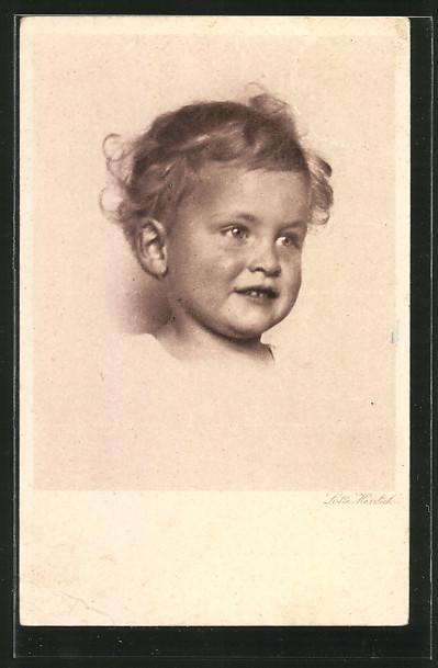Künstler-AK Lotte Herrlich: Kleinkind Portrait
