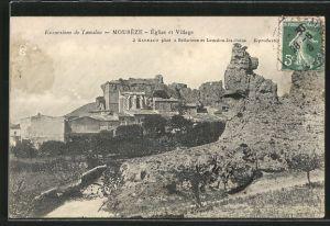 AK Mouréze, Eglise et Village