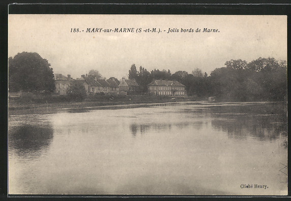 AK Mary-sur-Marne, Jolis bords de Marne