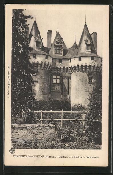 AK Vendeuvre-de-Poitou, Château des Roches de Vendeuvre