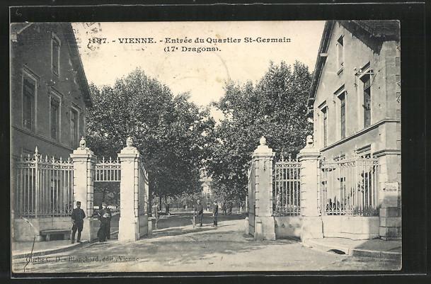 AK Vienne, Entrée du Quartier St-Germain