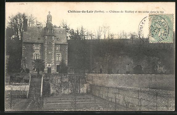AK Chateau-du-Loir, Chateau de Riablay et ses caves dans le roc