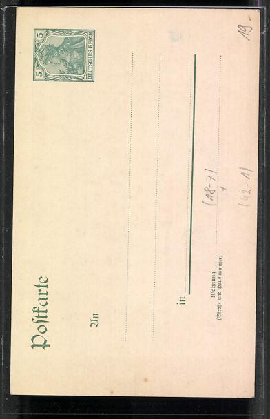 k nstler ak hannover 14 deutsches bundesschiessen 1903. Black Bedroom Furniture Sets. Home Design Ideas